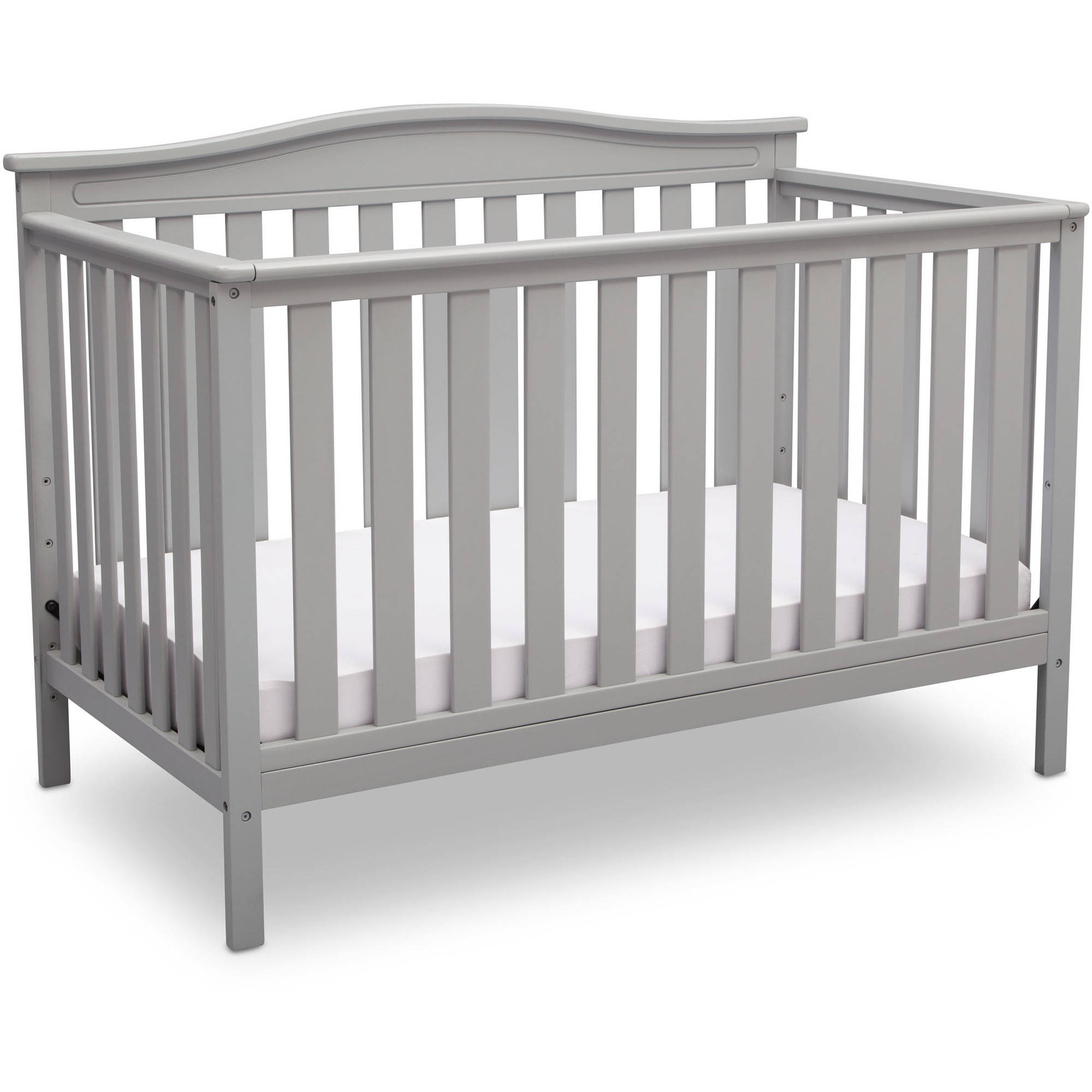 Delta Children Independence 4-in-1 Convertible Crib, Grey