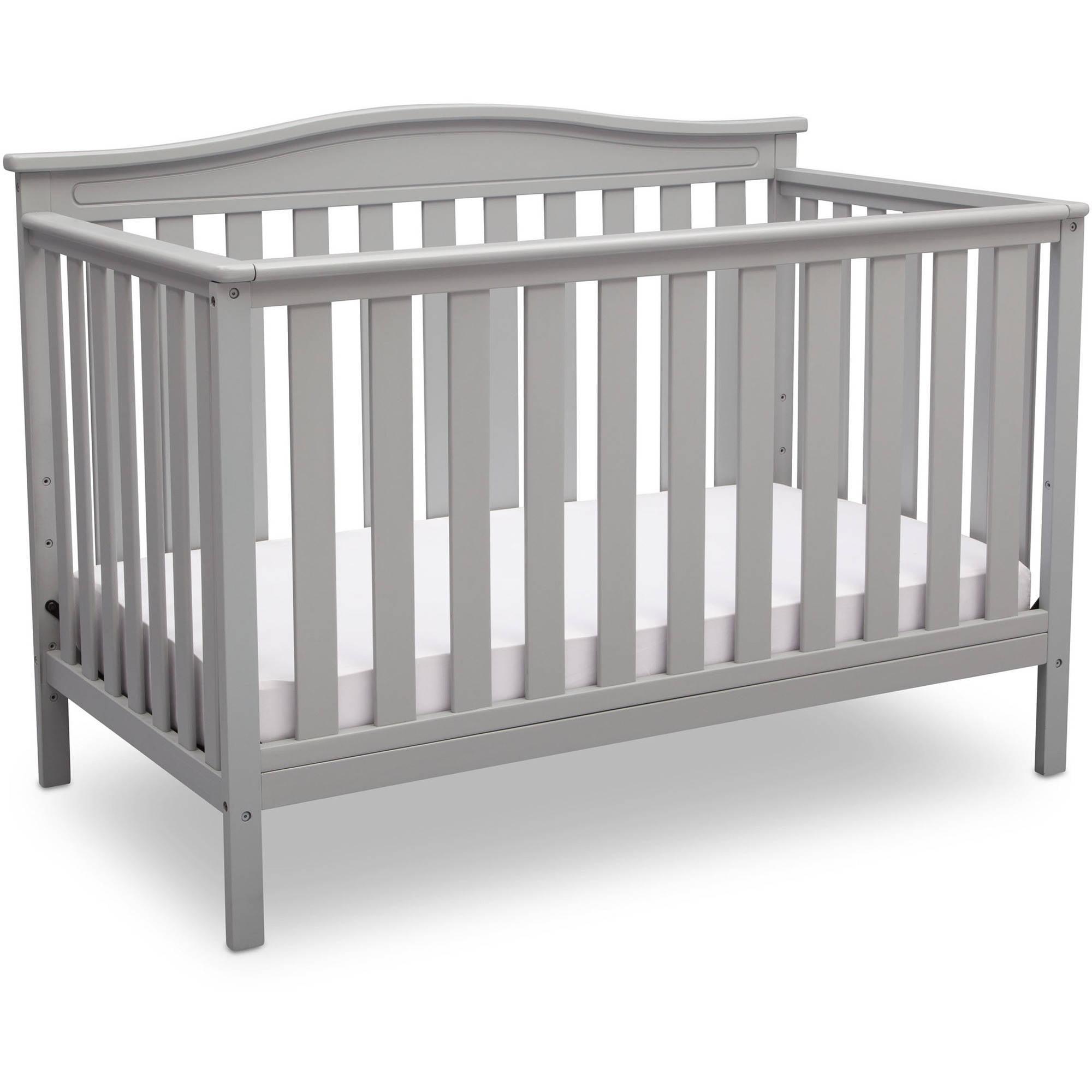 Delta Children Independence 4-in-1 Convertible Crib, Grey