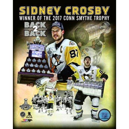 Sidney Crosby 2017 NHL Conn Smythe Trophy Winner Portrait Plus Photo (Conn Smythe Trophy)