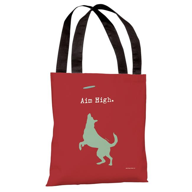 One Bella Casa 71169TT18P 18 in Aim High Dog Polyester Tote Bag by Dog is Good