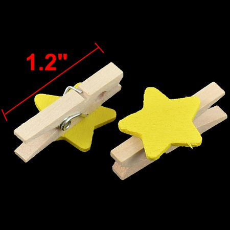 Porte Photo Carte étoile Stockagechevilles en Bois Printemps Artisanat Mini Clip 50pcs - image 2 de 3