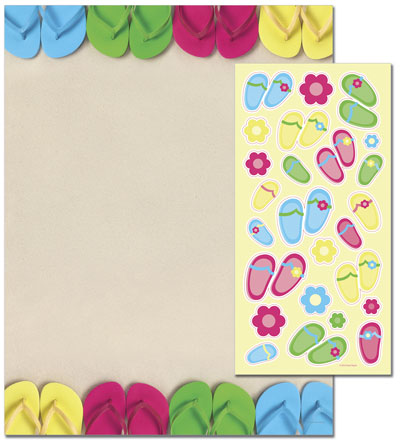 Great Papers 2012135 Bright Flip Flops Letterhead - 80 Sheets/Pack