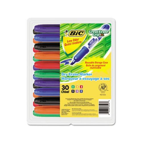 BIC Great Erase Grip Dry Erase Marker BICGDEM30ASST