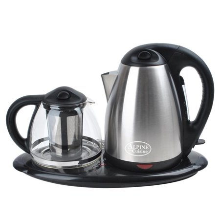 Alpine cuisine 2 piece electric tea maker set for Alpine cuisine tea kettle