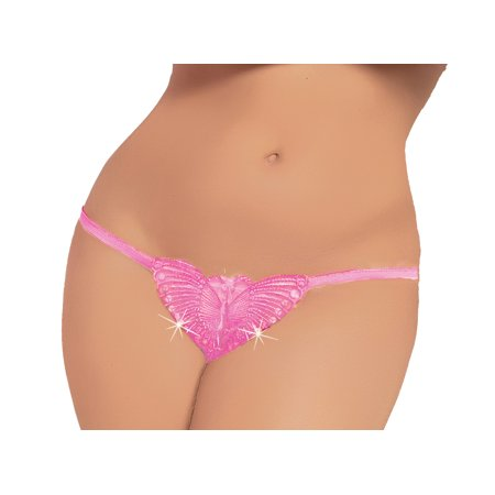 Lacy Line Sexy Open Crotch Plus Size Butterfly Sequined