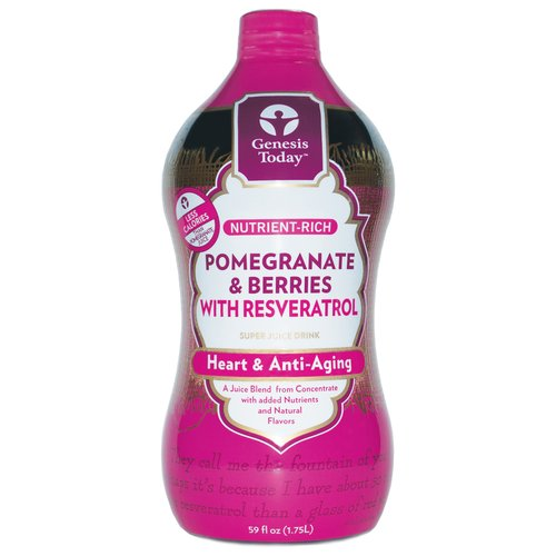 Genesis Today Pomegranate and Berries Resveratrol Fruit Juice, 64 fl oz