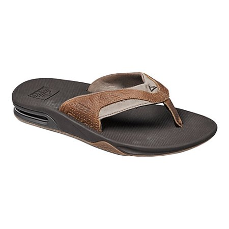 22999d2cd73f Reef - Men s Fanning Leather Thong Sandal - Walmart.com