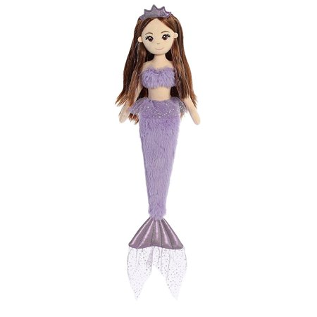 Purple Ice Shimmers Mermaid 18 Inch - stuffed Animal by Aurora Plush (33252)