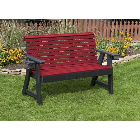 Outdoor Garden Exterior Cherry Wood Finish 4Ft-Poly Lumber ...