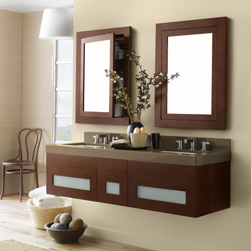 Ronbow Rebecca 23'' Double Wall Mount Bathroom Vanity Base Cabinet
