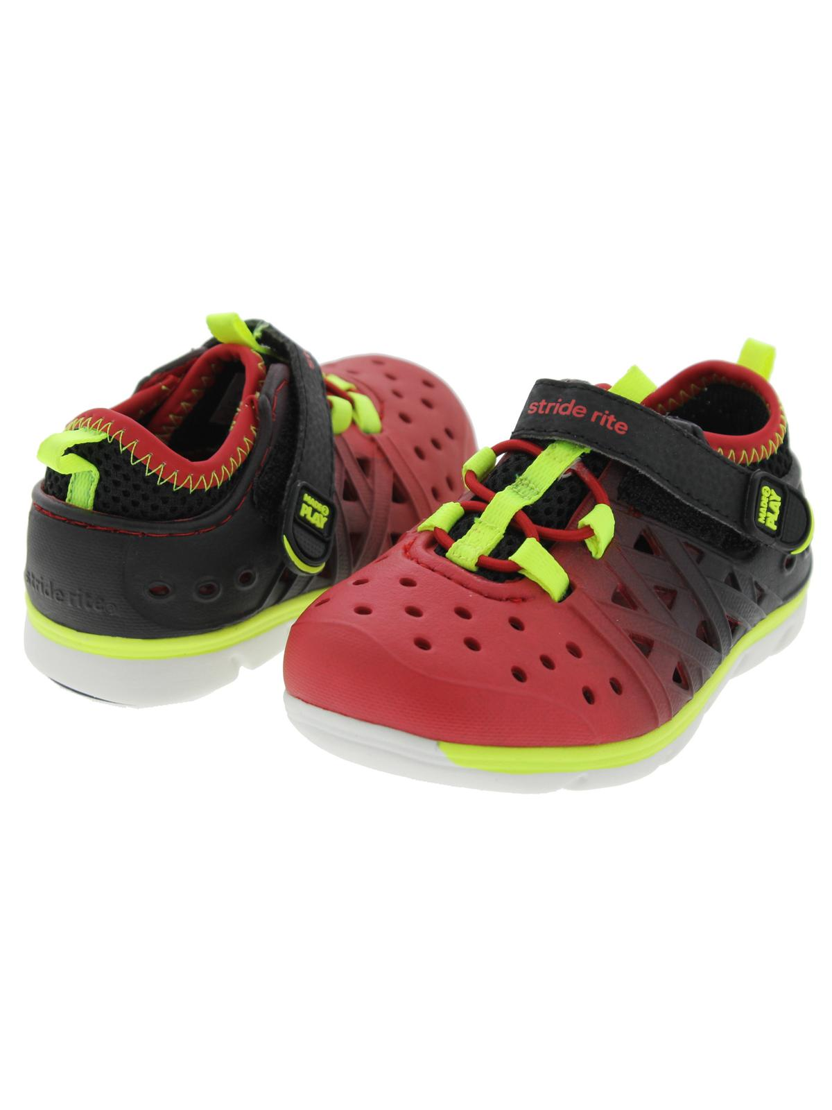 9556af8f91a9 Stride Rite - Stride Rite Made 2 Play Phibian Boys Black Red Water Shoes -  Walmart.com