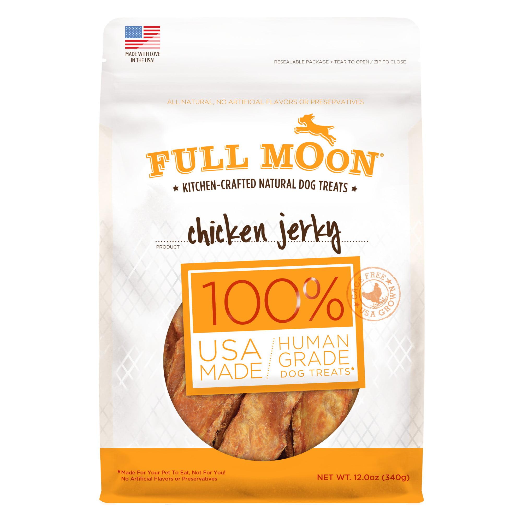Full Moon All Natural Human Grade Dog Treats, Chicken Jerky, 12 Ounce by Perdue Foods, LLC