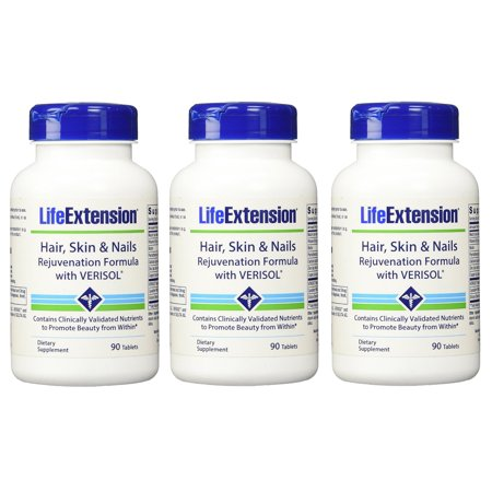 Life 90 Tabs (Life Extension Hair, Skin & Nails Rejuvenation (With Verisol) 90 Tabs - 3)