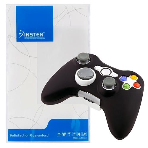 Insten 4x Black Silicone Soft Protective Case for Xbox 360 Wireless Controller Game