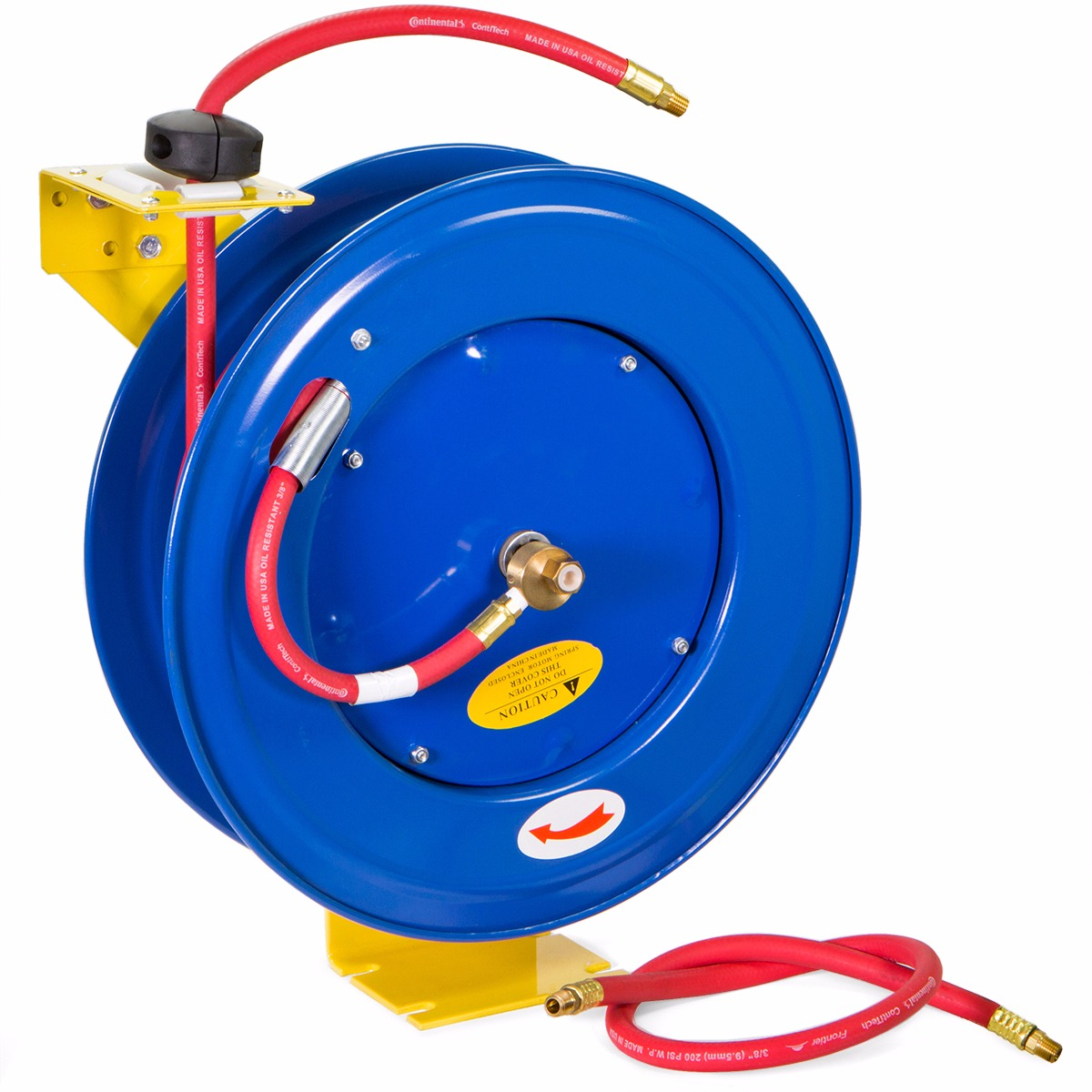"3 8"" 100' Rubber Air Hose Reel by"