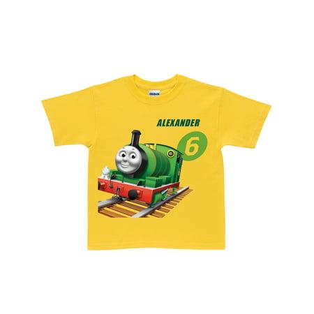 Personalized Thomas & Friends Percy No. 6 Kids' Yellow T-Shirt