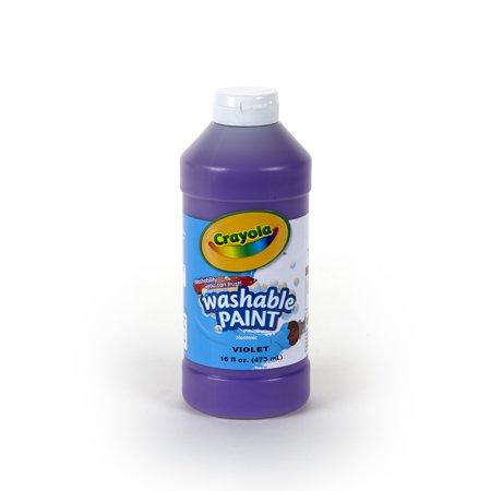 Pint 16 Oz (Crayola Washable Paint, 16 oz. Bottle,)