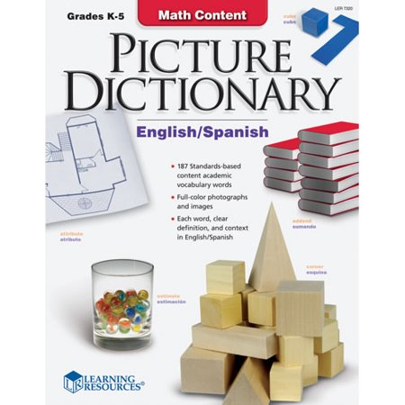 Learning Resources Math Content Picture Dictionary (Eng/Span Multi-Colored