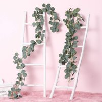 Asewin Artificial Ivy Leaf Garland Plants Vine - 6.5 Ft Greenery Fake Foliage Garland Hanging Wisteria Vine Gift for Wedding Party Garden Home Kitchen Office Wall Decora