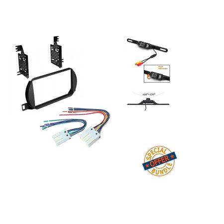 NISSAN ALTIMA 2002 2003 2004 CAR STEREO RADIO CD PLAYER RECEIVER INSTALL MOUNTING KIT WIRE HARNESS W/ Cache Backup Nightvision Camera (Nissan Altima Back Up Camera)