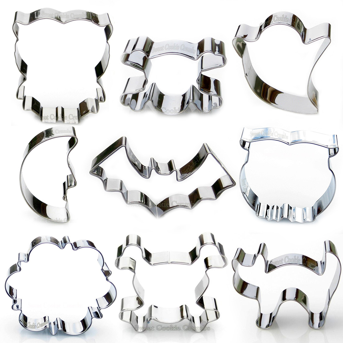 Halloween Cookie Cutter Set - 9 Piece Stainless Steel