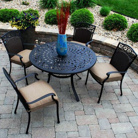 savilla outdoor patio dining set seats 4