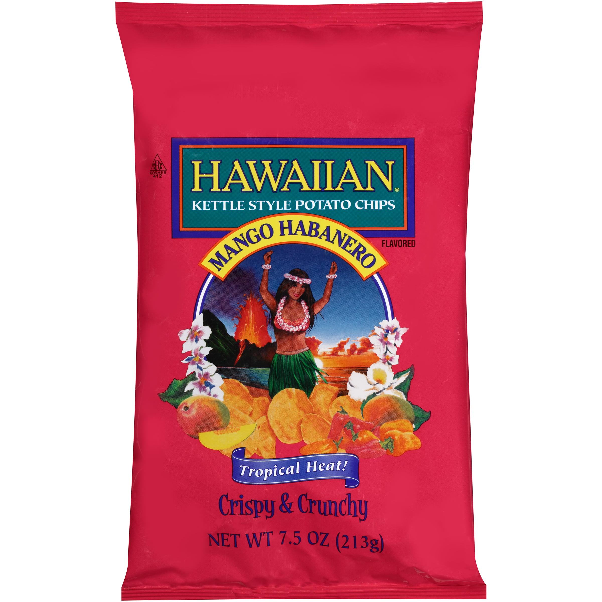 Hawaiian�� Kettle Style Potato Chips Mango Habanero Flavored 7.5 oz. Bag