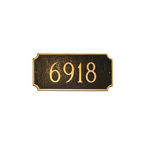 Montague Metal PCS-28E Estate Princeton Decorative Rectangular One Line Address Plaque... by Brand New