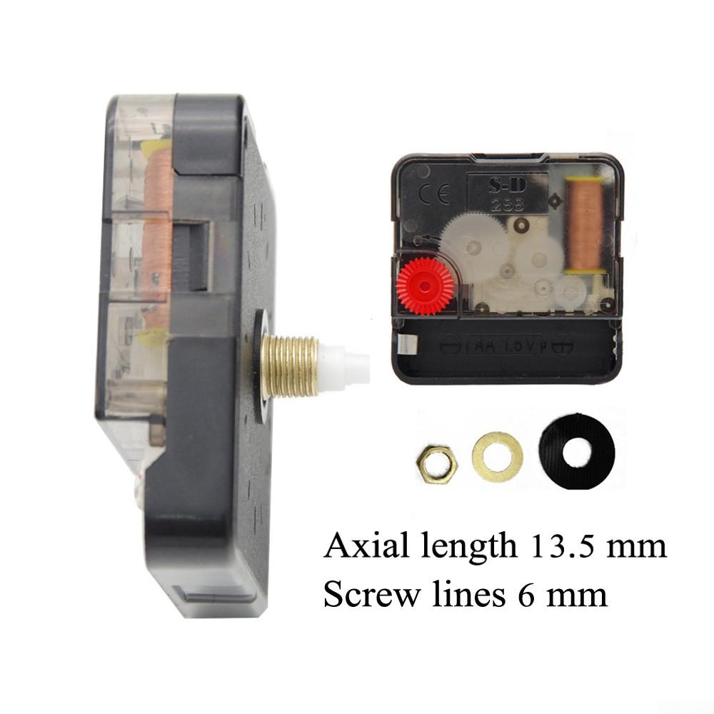 Metal+Plastic Clock Movements Quartz Clock Movement Silent Scanning 6 Sizes