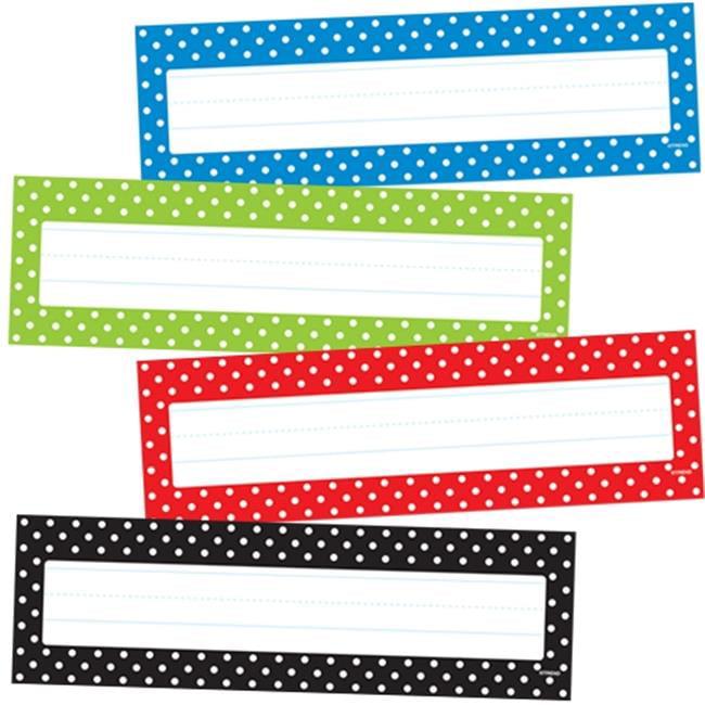 Trend Enterprises T-69951 Polka Dots Desk Toppers Name Plates