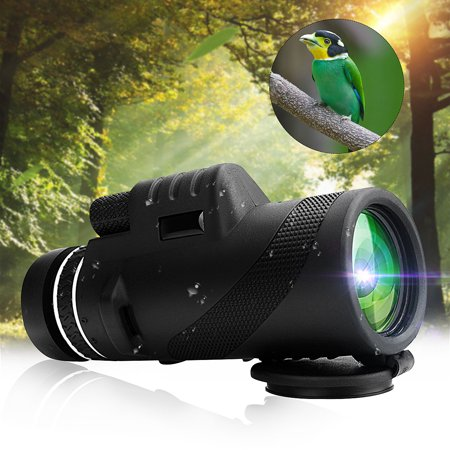 40X60 HD Portable Monocular Telescope Day Night Vision Dual Focus Optical Zoom Waterproof For Hiking Camping Hunting