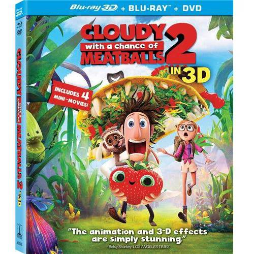 Cloudy With A Chance Of Meatballs 2 (3D Blu-ray + Blu-ray + DVD + Digital Copy) (With INSTAWATCH) (Widescreen)