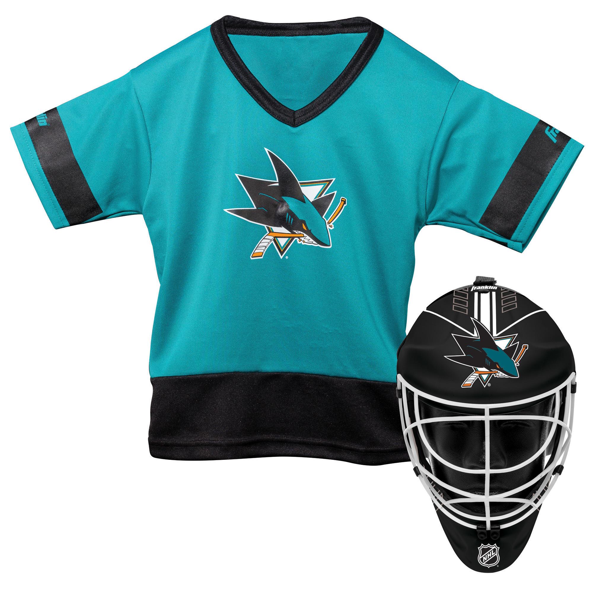 Franklin Sports NHL San Jose Sharks Youth Team Uniform Set