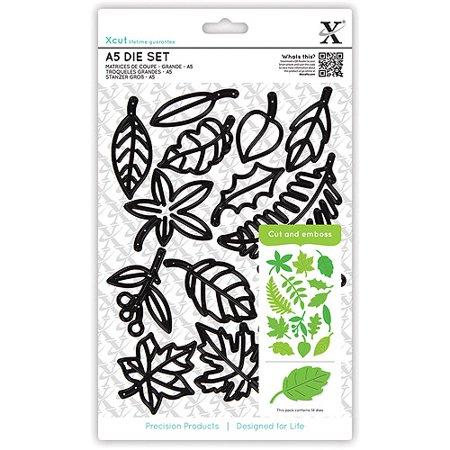 Do Crafts Xcut A5 Die Set  Leaves