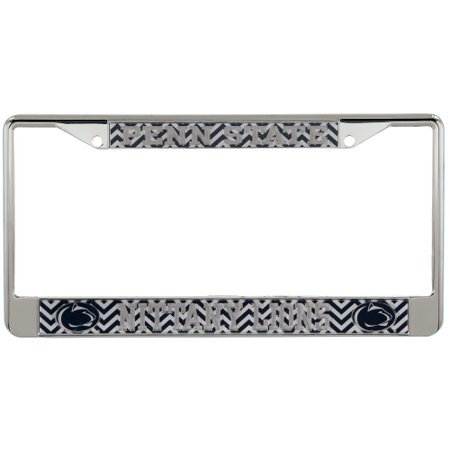 Penn State Nittany Lions Chevron Small Over Large Metal Acrylic Cut License Plate Frame - No Size Nittany Lions License Plate Frame