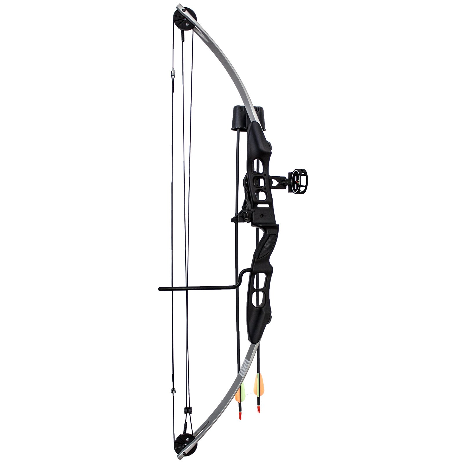 SAS Sergeant 55 Lb 29'' Compound Bow Package with 3-Pin Sight, Arrow Rest, Quiver, Arrows, Arm Guard and Finger Tab by Southland Archery Supply