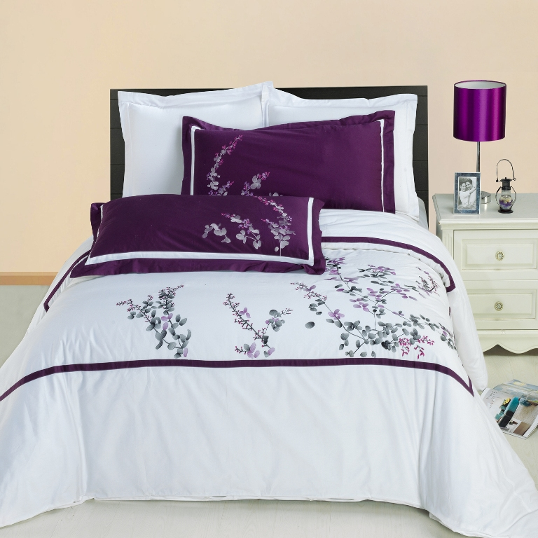 Spring Valley Embroidered cotton Multi-Piece Duvet Set