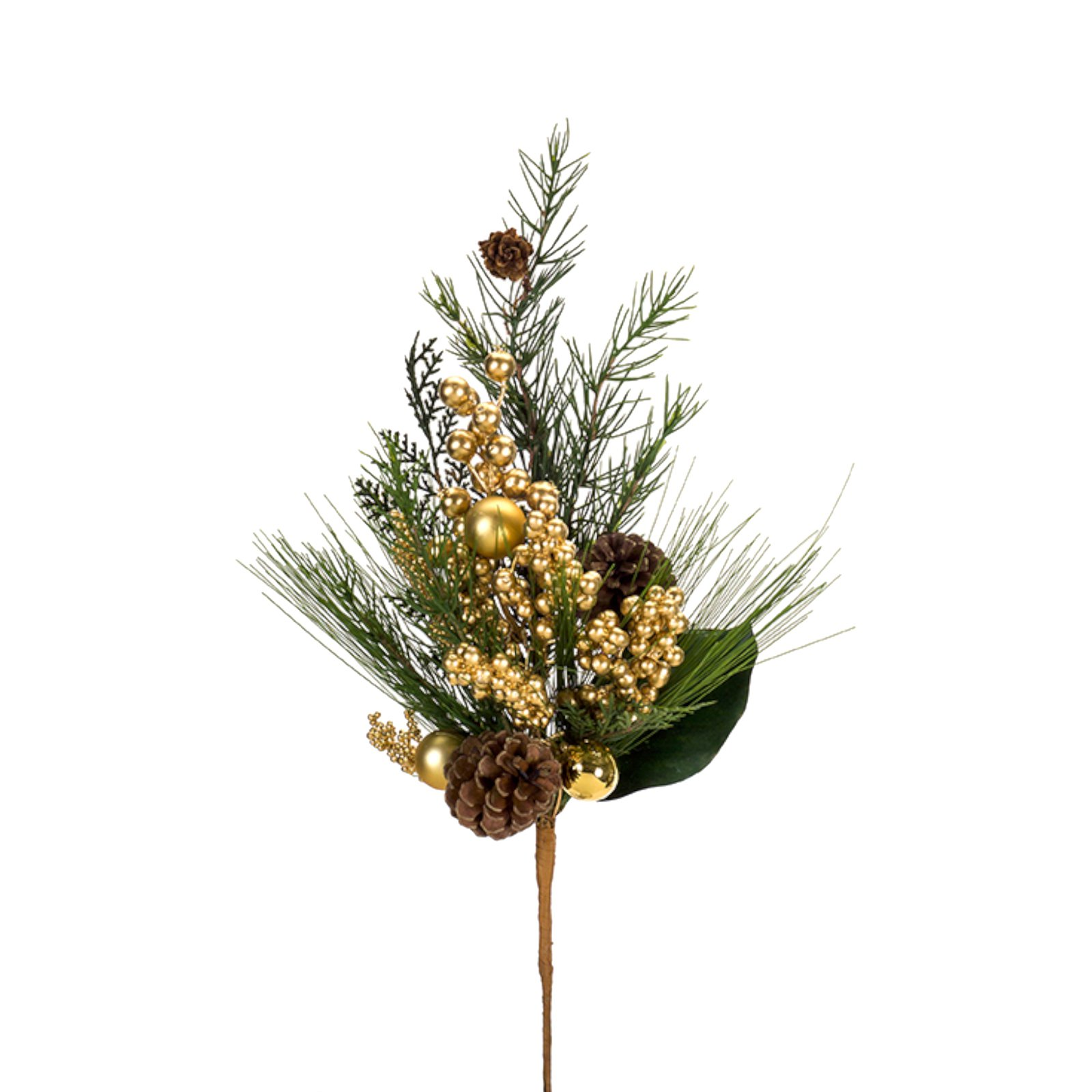 Melrose 21 in. Mixed Pine and Berry Spray - Set of 12