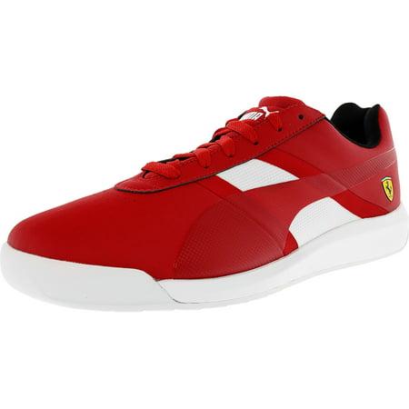 Puma-Mens-Ferrari-Podio-Tech-Rosso-Corsa-White-Ankle-High-Fashion-Sneaker-12M