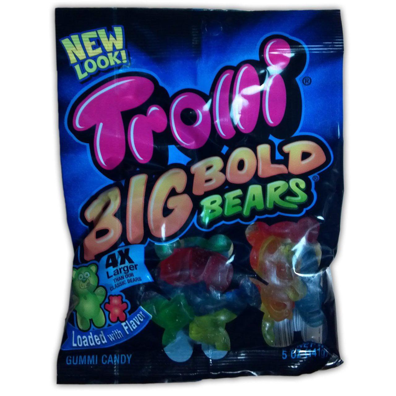 12 PACKS : Trolli Big Bold Gummy Bears Candy, 5 Ounce -- 12 per case. by