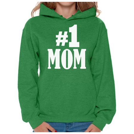 Awkward Styles Women's #1 Mom Graphic Hoodie Tops for Best Mom In The