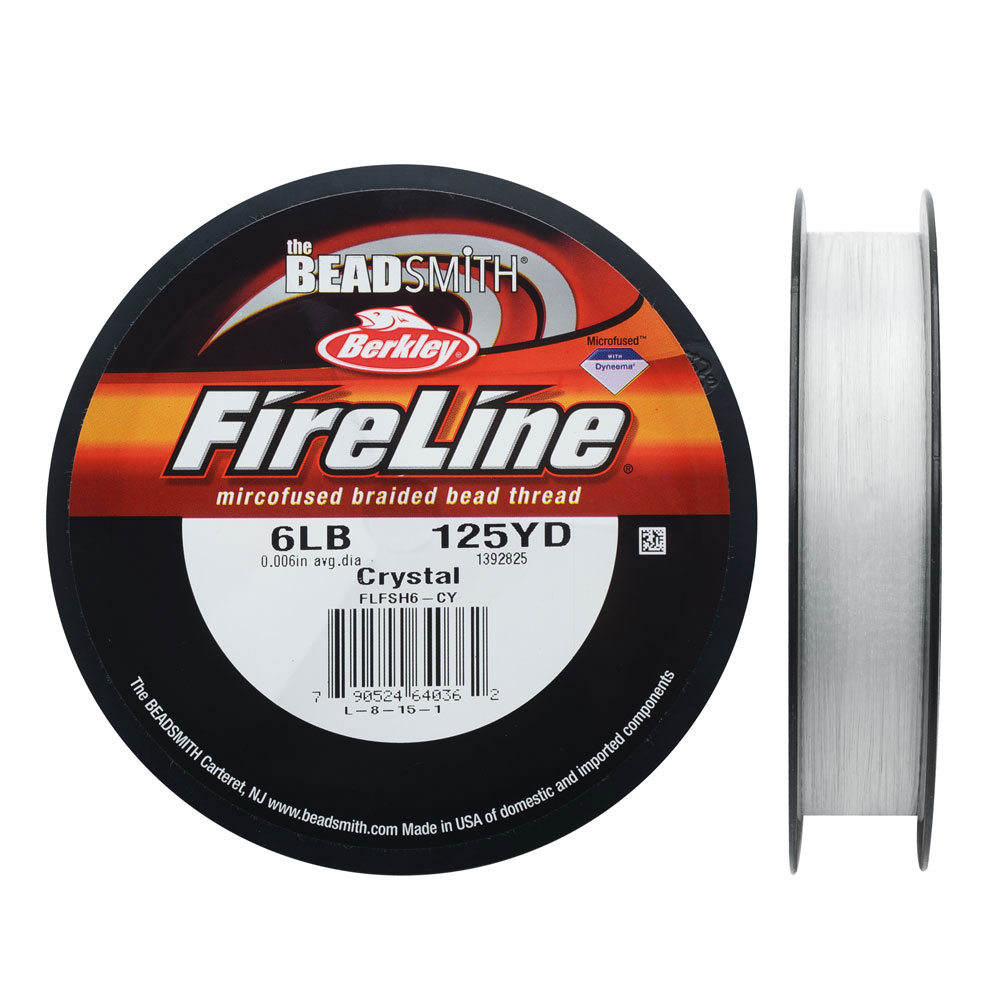 FireLine Braided Beading Thread, 6lb Test and 0.006 Thick, 125 Yards, Crystal Clear
