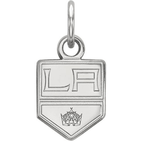 LogoArt NHL Los Angeles Kings 14kt White Gold Extra Small Pendant