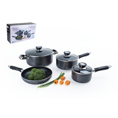 Alpine cuisine 7 piece non stick cookware set for Alpine cuisine ceramic cookware