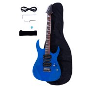 Electric Guitar for Kids, Gift Classic Rock 'N' Roll Musical Instrument Electric Guitar for Children, 170 Burning Fire Style Professional Electric Guitar Set for Child Boys Girls