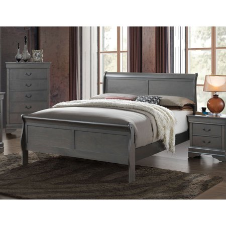 Furniture of America Helena Transitional Wooden Sleigh Bed ()