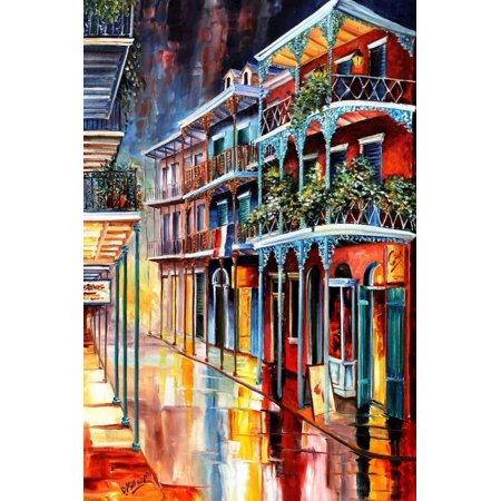 Sparkling French Quarter Colorful New Orleans Painting Print Wall Art By Diane Millsap