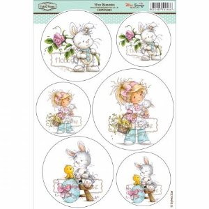 Hobby House HHWS003 Wee Stamps Topper Sheet, 8.3 by 12.2-Inch, Bunnies Multi-Colored