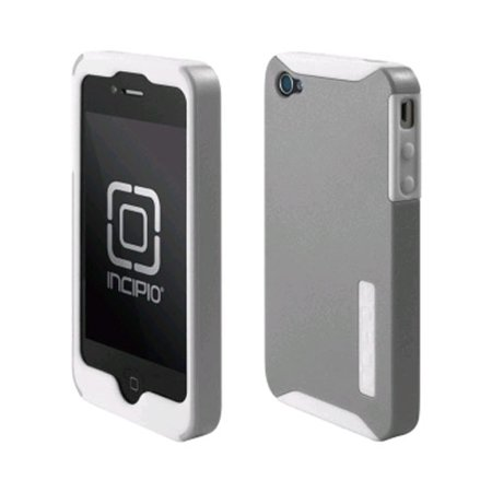 Incipio Silicrylic Case for Apple iPhone 4/4S - Silver/White
