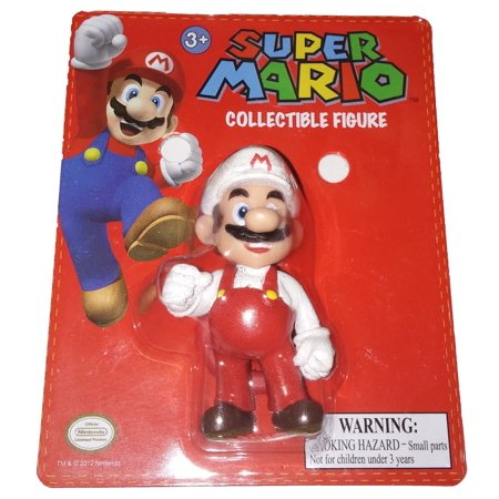 Super Mario Brothers Clip on 2 Red and White Fire Mario Action Mini Figure](Mario Brothers Princess Daisy)